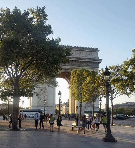 Arc de Triomphe in the afternoon sun
